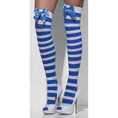 striped stockings with bow