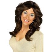 70's flick wig - brown