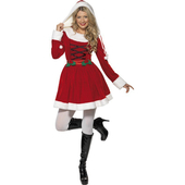 Velour Miss Santa Costume
