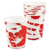 bloody paper cups