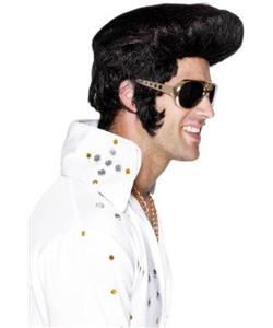Black Fonz Wig Elvis 107