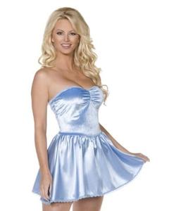 blue mini dress slip