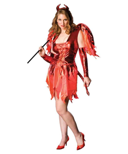 Devil on Fire Costume - Plus Size