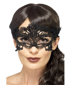 Embroidered Lace Filigree Heart Eyemask