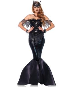 Black Mermaid Fancy Dress