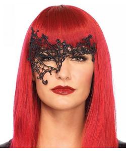 black daring Venetian eye mask
