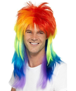rainbow Mullet Wig