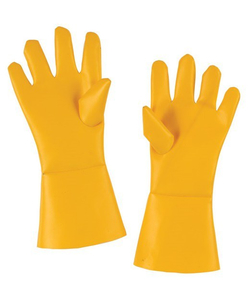 Yellow butcher gloves