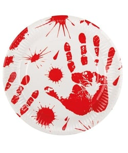Bloody paper plates - 6 pack