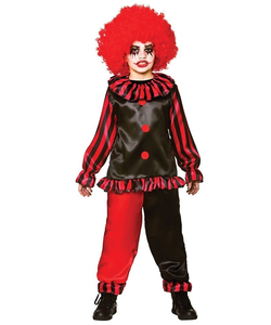 evil clown teen costume