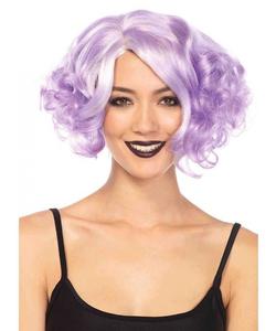 Curly Bob Wig - Pastel Lavender