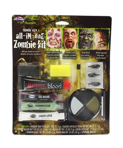 Zombie Family Face Paint Set