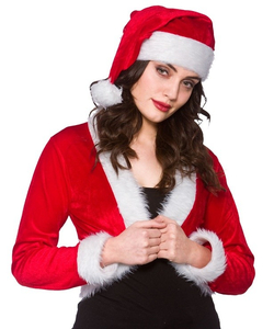 CUTE SANTA SHRUG & HAT