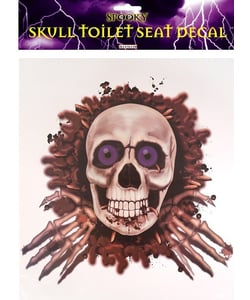 Skull Toilet Seat Decoration