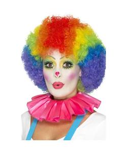 Clown Neck Ruffle - Pink