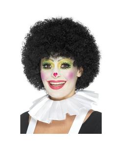 Clown Neck Ruffle - White