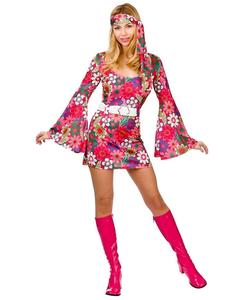 Ladies Retro Hippy Costume