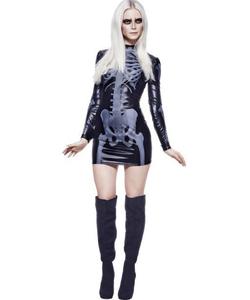 Miss Whiplash Skeleton Costume
