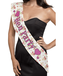 vintage hen party sash