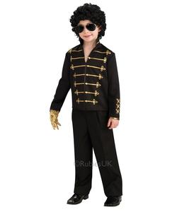 Michael Jackson Black Military Jacket - Kids