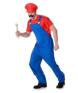 Red Plumber Guy Costume