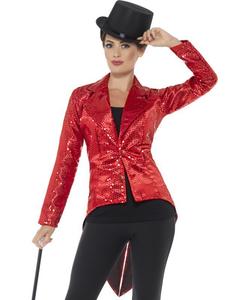 red Sequin Jacket - Ladies