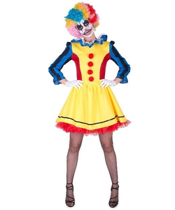 scary clown girl costume