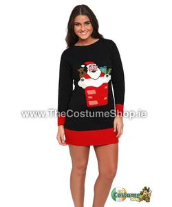 Ladies Santa Christmas Jumper