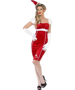 Pin Up Miss Santa Costume