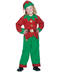 Unisex tween elf costume