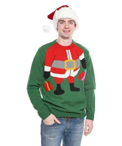 Santa Elf Christmas Jumper - Green
