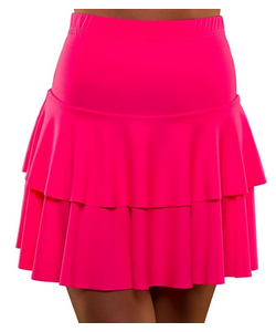 80's Neon Ra Ra Skirt - Pink