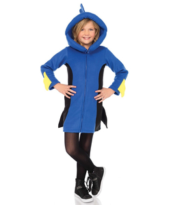 Kids cozy blue fish costume
