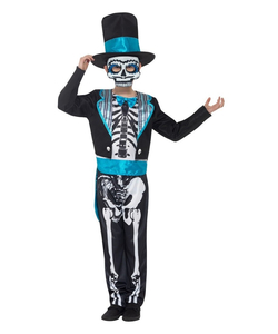 Tween Day Of The Dead Groom Costume