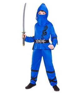 Blue Power Ninja Kids Costume