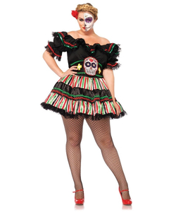 plus size Day of the Dead Doll costume