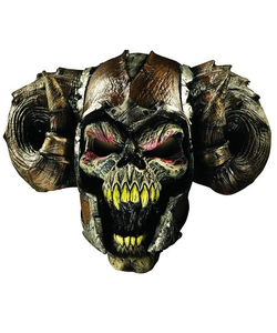 demon warrior latex mask