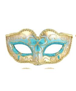 Glitter Eye Mask - Turquoise