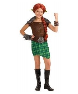 kids princess fiona warrior costume