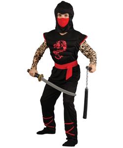 muscle chest ninja warrior costume - kids