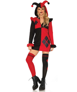 cozy harlequin costume