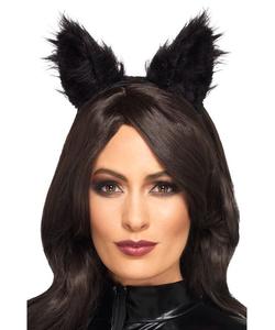Long Pile Fur Cat Ears