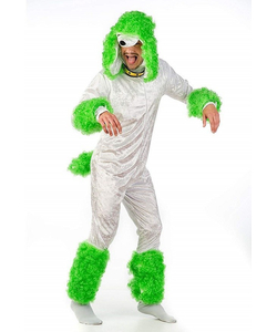 Poodle Costume - Green/White