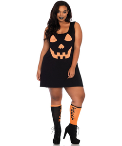 Jersey Pumpkin Dress - Plus Size
