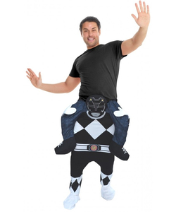 Piggyback Black Power Ranger Costume