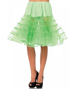 Knee Length Petticoat - Neon Green