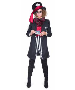 Black Hatter Girl Costume