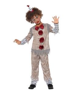 Vintage Clown Boy Costume - Tween