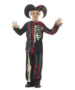 Skeleton Jester Costume - Tween