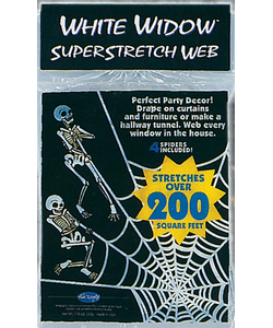 White Super Stretch Spider Webs